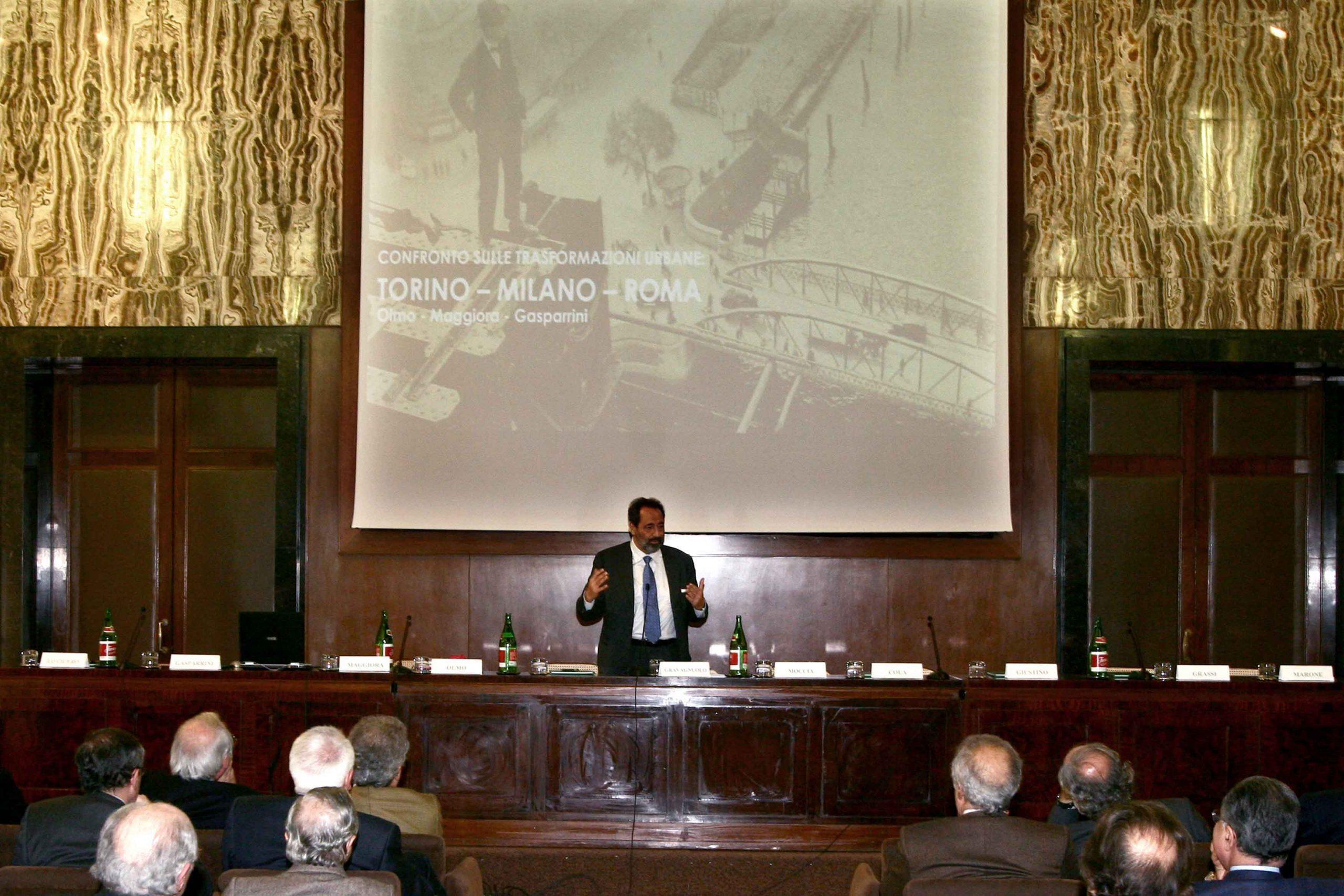 Convegno Confronto sulle trasformazioni urbane Torino/Milano/Roma